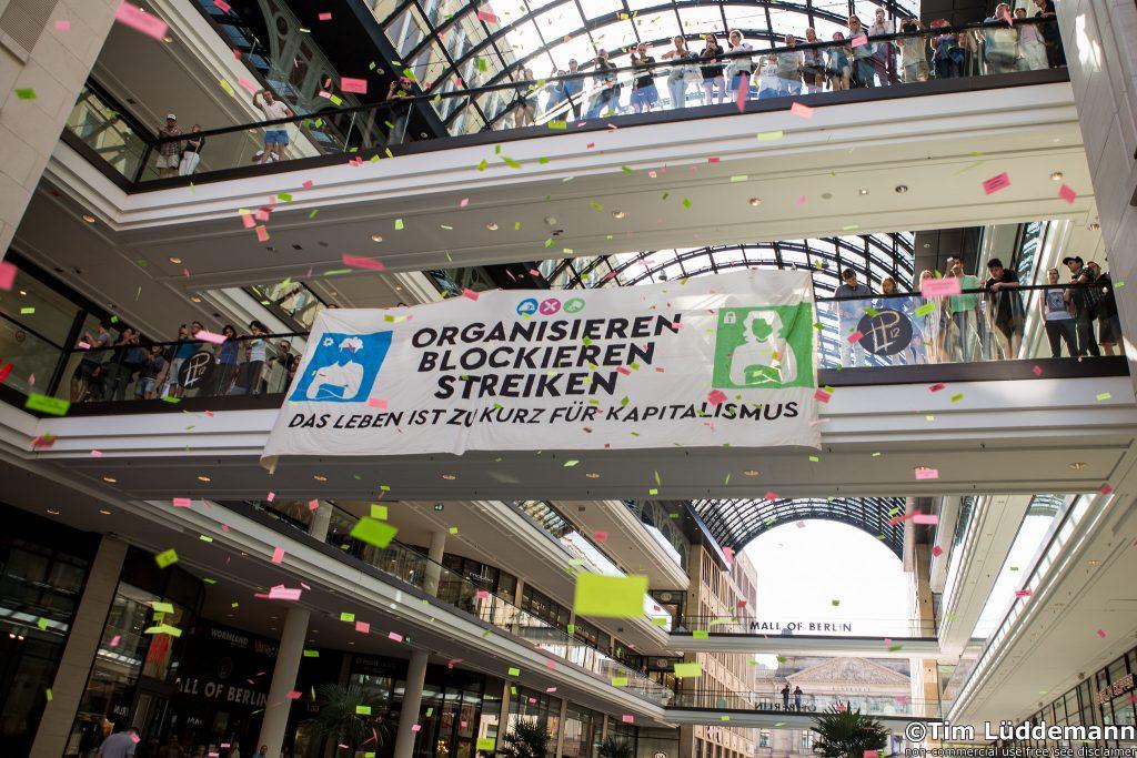 Blockupy blockiert das Arbeitsministerium